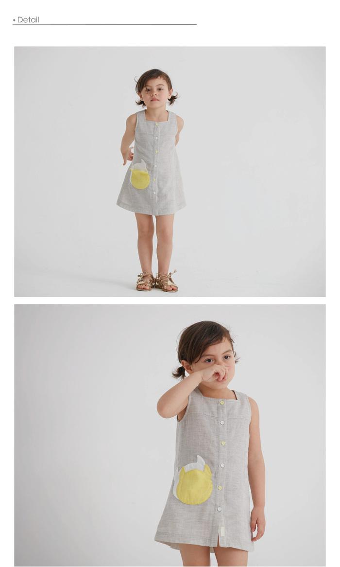baby baby cool|方領跳色小精靈口袋洋裝