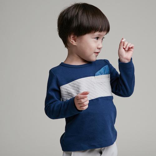 baby baby cool|紳士巾長袖上衣(灰)