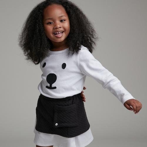 baby baby cool|雙層A字短裙(黑)