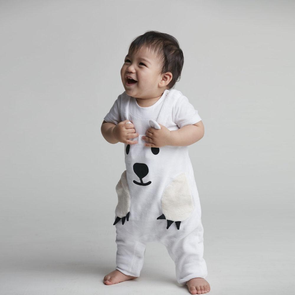 baby baby cool 北極熊吊帶褲