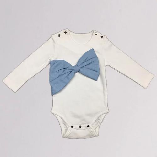 baby baby cool|立體大蝴蝶結包屁衣(水藍)