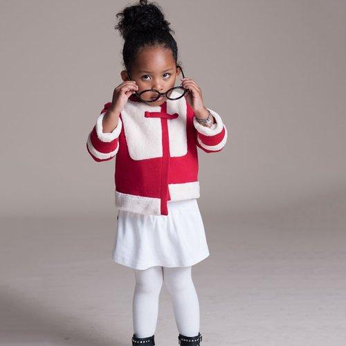 baby baby cool 不對稱毛皮短外套(紅)