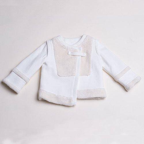 baby baby cool 不對稱毛皮短外套(白)