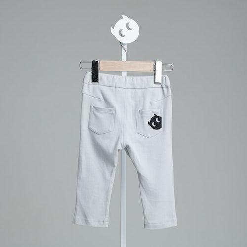 baby baby cool|口袋刺繡小精靈褲(灰)