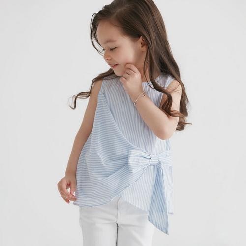 baby baby cool|藍絲帶上衣