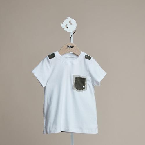 baby baby cool 軍裝口袋T-shirt