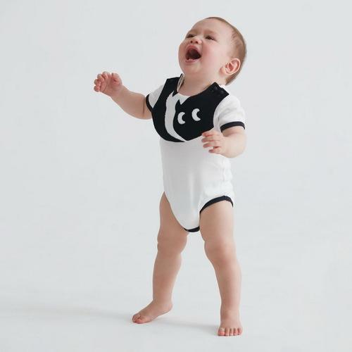 baby baby cool|小精靈雙色圍兜兜包屁衣