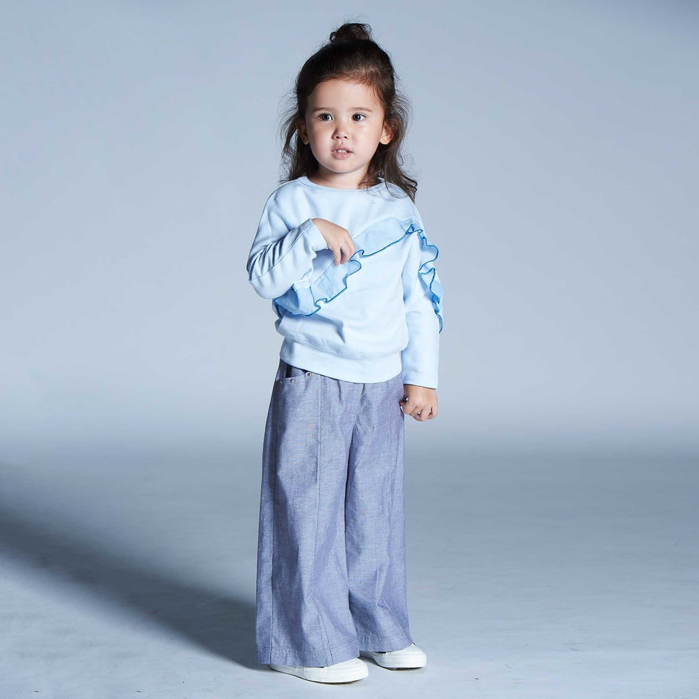 baby baby cool|率性牛仔寬褲