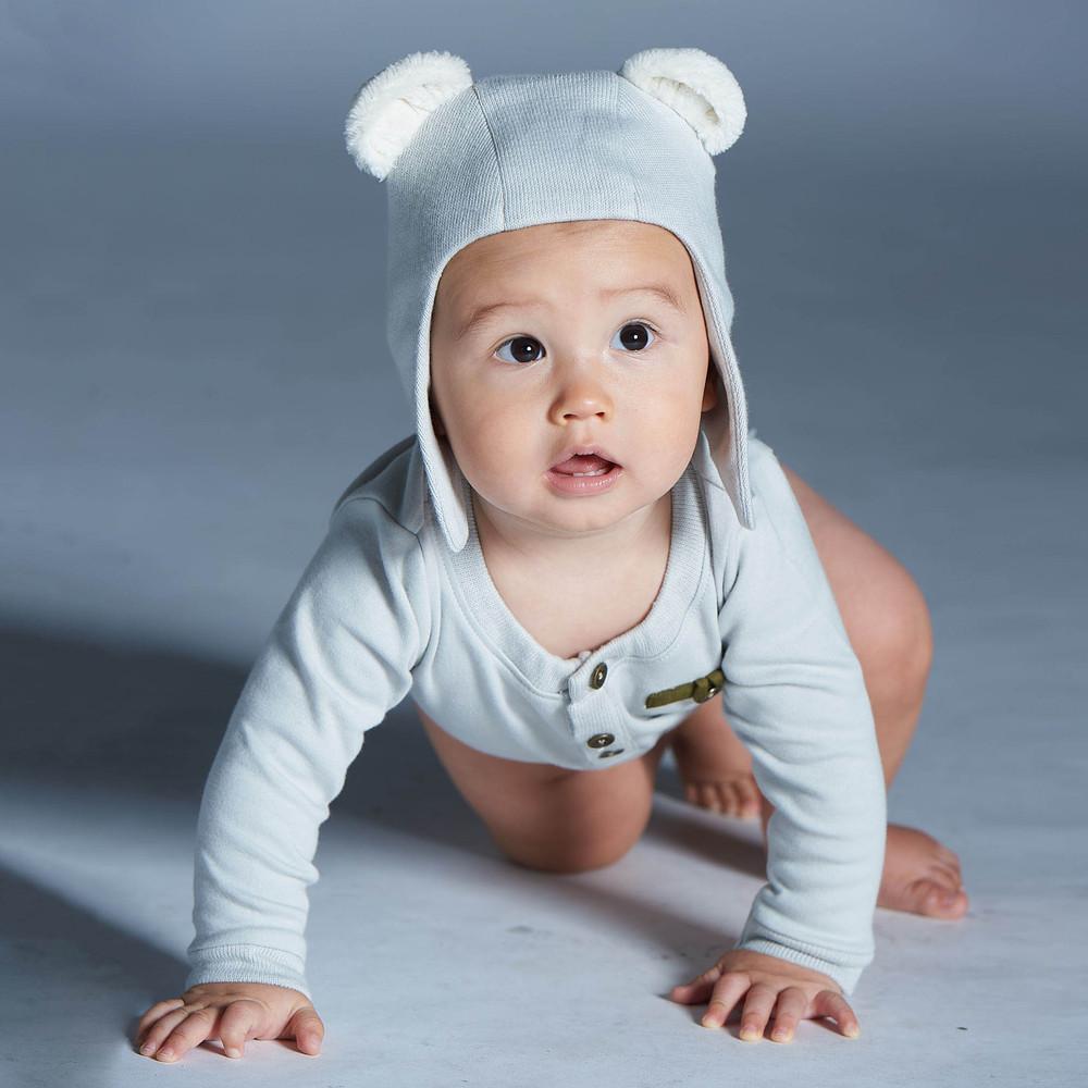 baby baby cool|紳士開襟領包屁衣