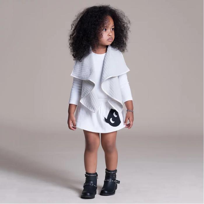 baby baby cool|小精靈口袋裙(白)