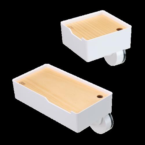TiLS Homeware|KISS LOCK 快鎖吸盤-木蓋收納盒1組 (大+小)