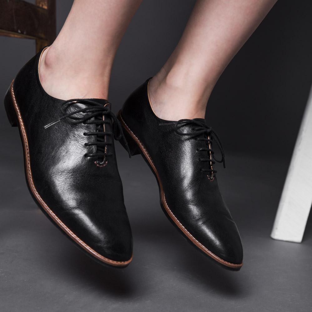 NOUR|classic 經典款 oxford 全素面牛津鞋-Truffle 黑色