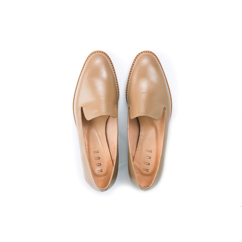 NOUR|classic 經典款 loafer 全素面樂福鞋-Cappuccino 可可色
