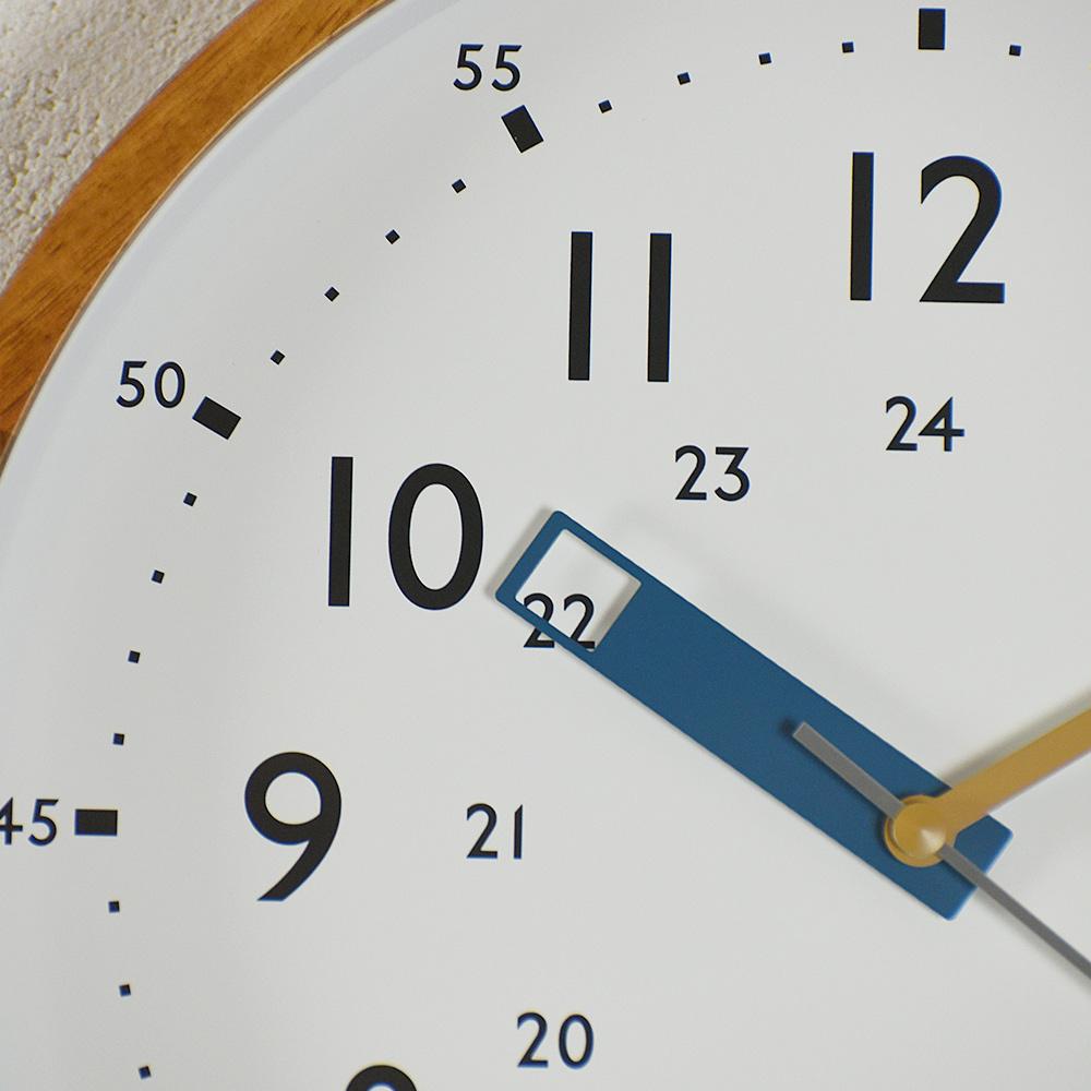 Zeller Life 24小時制造型掛鐘(藍)