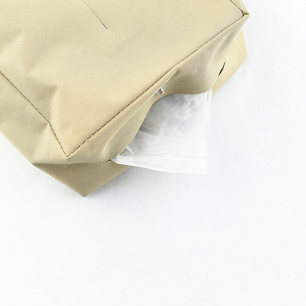 Zeller Life|扣掛式衛生紙收納袋(淺棕)