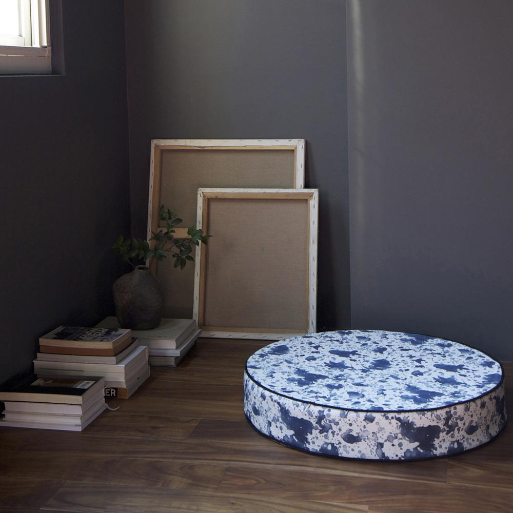 ERDA Living 瀟灑對策 靜心坐墊 (靛藍色 / 直徑60cmx高10cm)