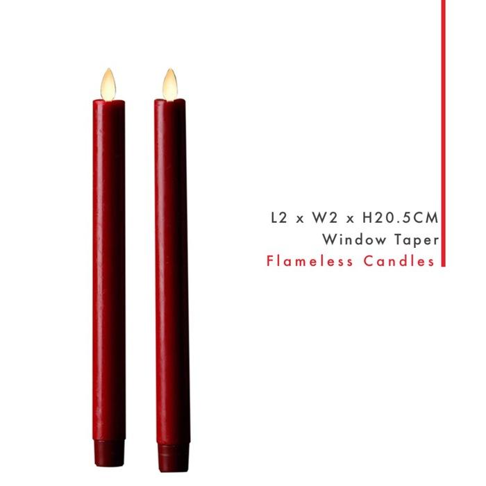 Veraflame 擬真 LED 燭燈 2件裝 Window Taper(S)