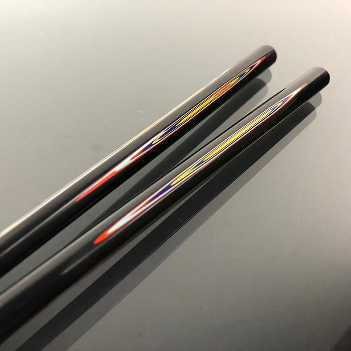 (複製)光山行|手工研磨一生一筷 線條 Lacquer chopsticks(黃綠色)
