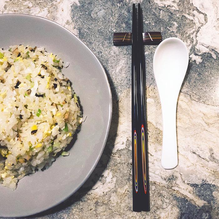 (複製)光山行 手工研磨一生一筷 線條 Lacquer chopsticks(黃綠色)