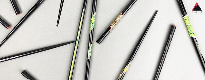 光山行|手工研磨一生一筷 圓點 Lacquer chopsticks(紅藍色)
