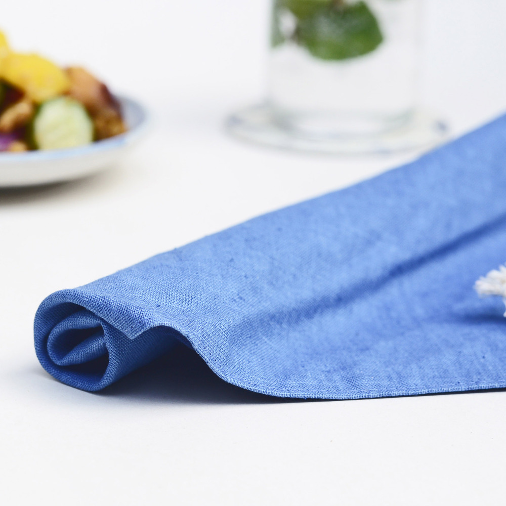 光山行 藍染餐具包 水色 Indigo cutlery bag