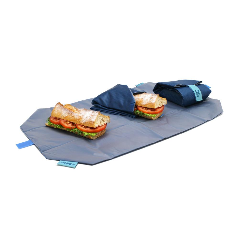 Roll'eat   西班牙食物袋 搖滾輕食袋-細方格系列(深海藍)