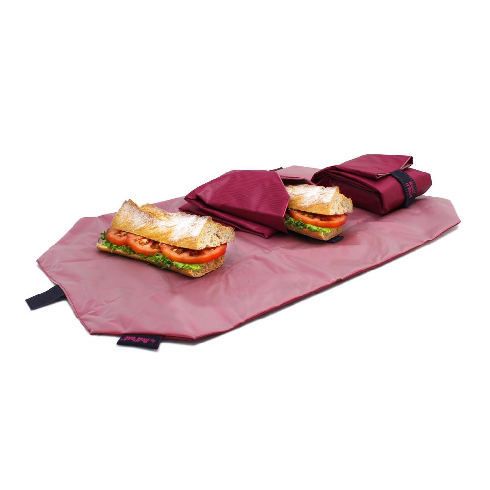 Roll'eat   西班牙食物袋 搖滾輕食袋-細方格系列(魅力桃紅)