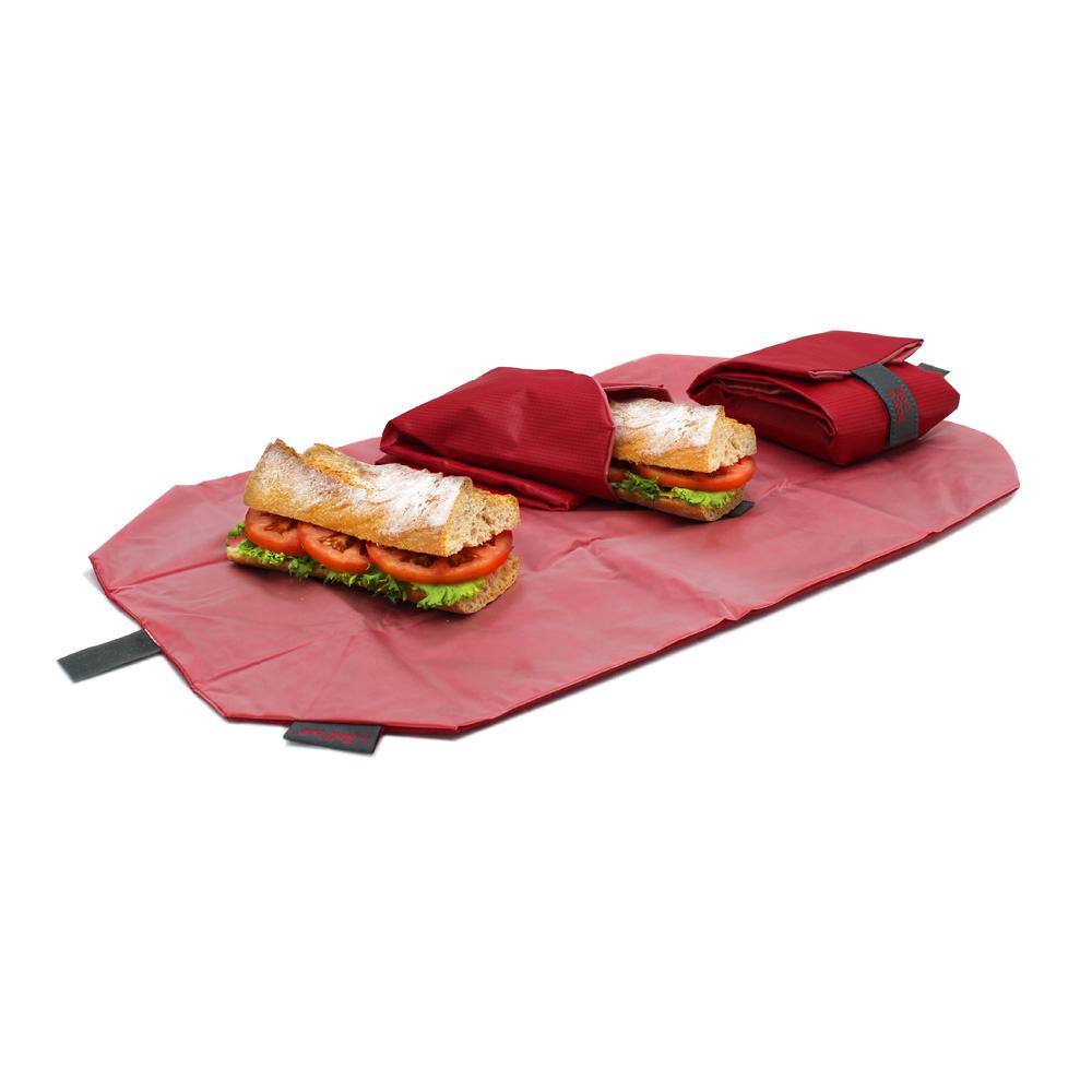 Roll'eat | 西班牙食物袋 搖滾輕食袋-細方格系列(魔力紅)