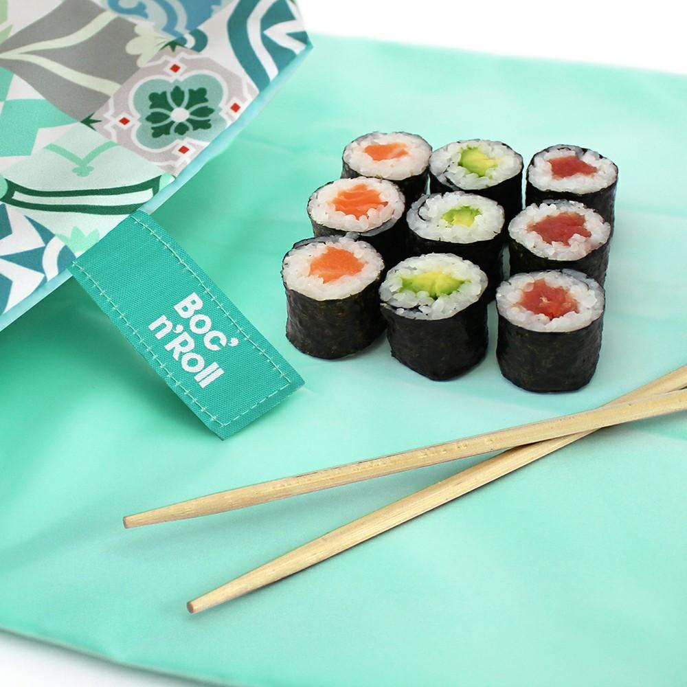 Roll'eat | 西班牙食物袋 搖滾輕食袋-拼布系列(拼布綠)