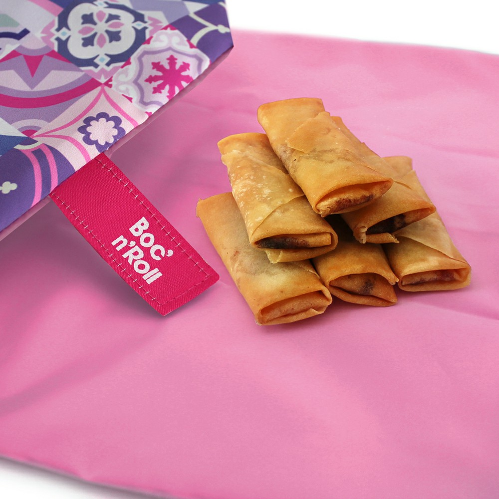 Roll'eat | 西班牙食物袋 搖滾輕食袋-拼布系列(拼布粉)