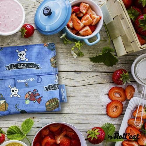 Roll'eat | 西班牙食物袋 吃貨零食袋(S)-童趣(海盜藍)