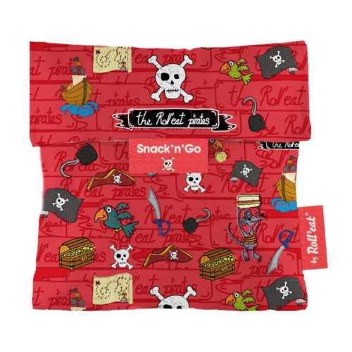 Roll'eat | 西班牙食物袋 吃貨零食袋(S)-童趣(海盜紅)