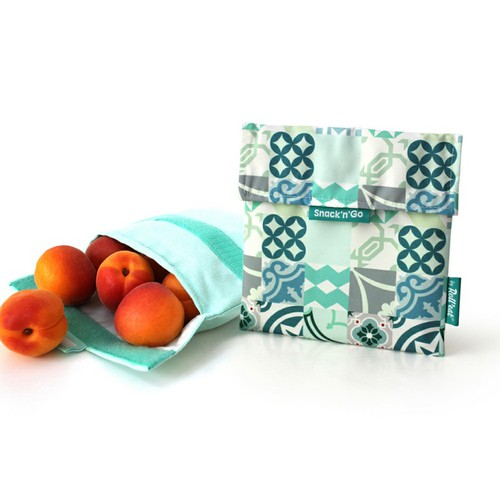 Roll'eat | 西班牙食物袋 吃貨零食袋(M)-拼布(拼布綠)