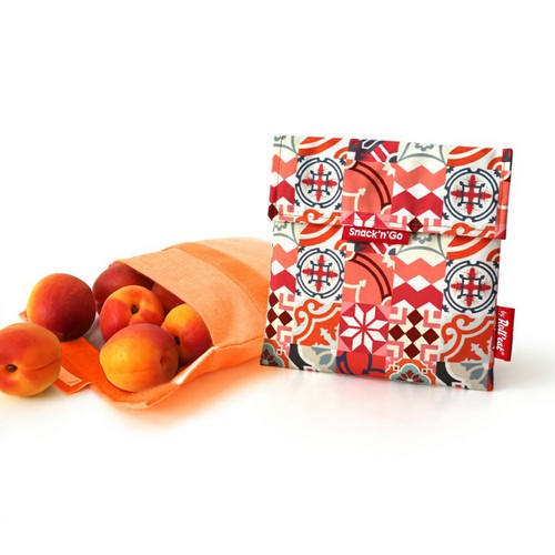 Roll'eat   西班牙食物袋 吃貨零食袋(M)-拼布(拼布紅)