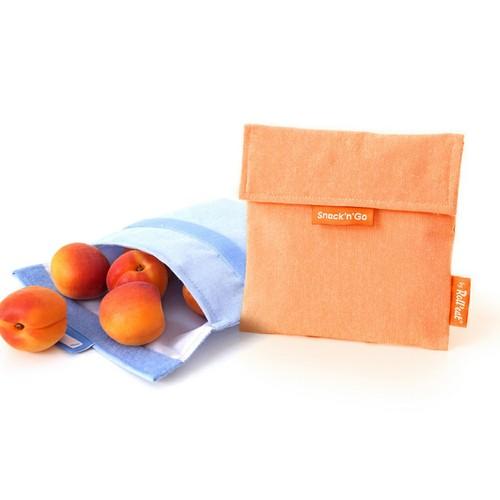 Roll'eat | 西班牙食物袋 吃貨零食袋(M)-馬卡龍(甜橘粉)