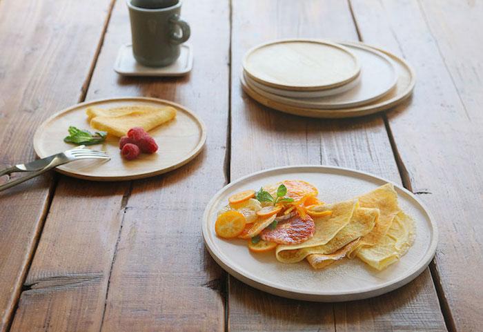 ACACIA 圓形木製餐盤原木色(大 / 中 / 小三件組 )