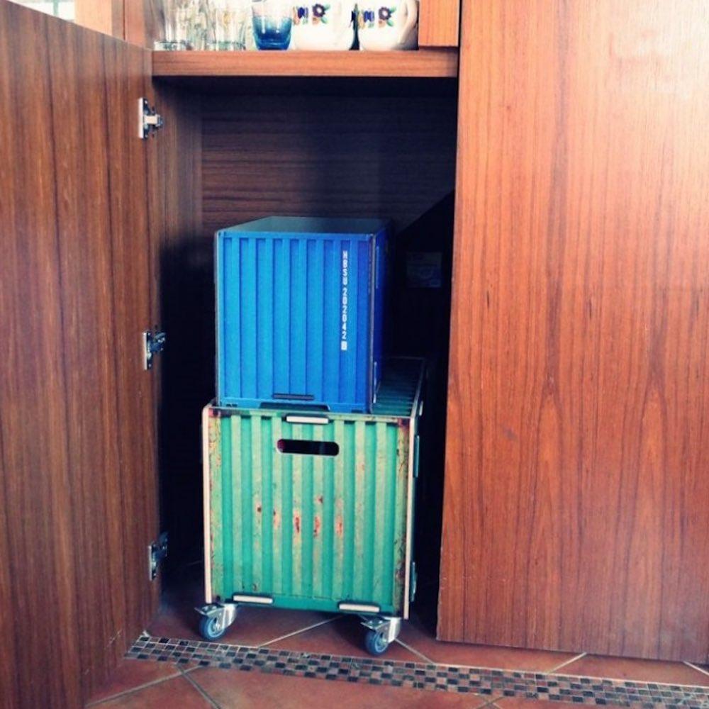 Werkhaus 滾輪木製收納箱(老英國)