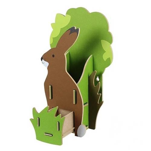 Werkhaus|可愛動物配件收納壁掛架(野兔)