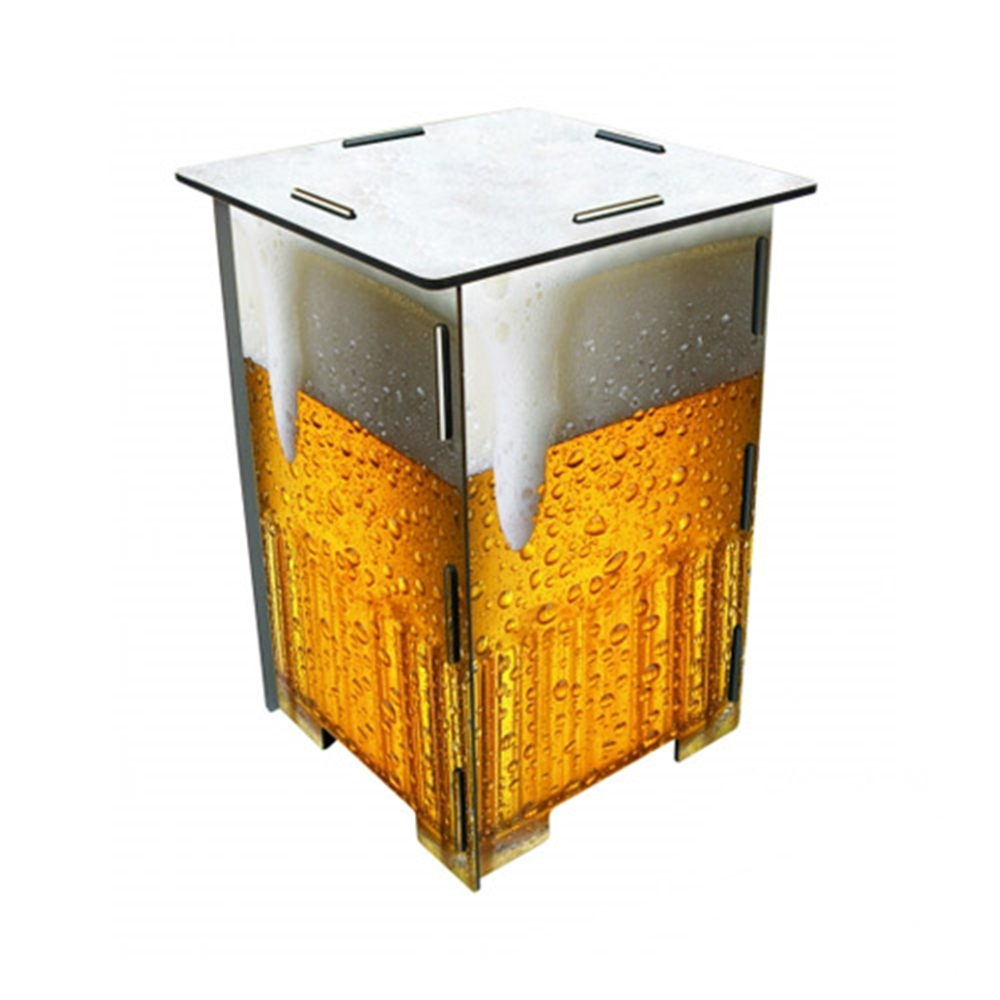 Werkhaus|彩印經典木凳儲物組(金黃啤酒)