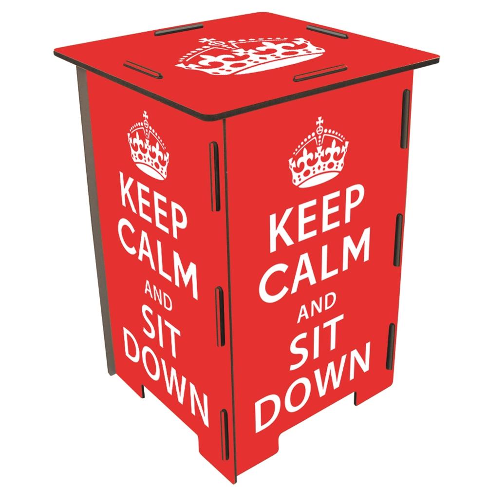 Werkhaus|彩印經典木凳儲物組(keep calm)