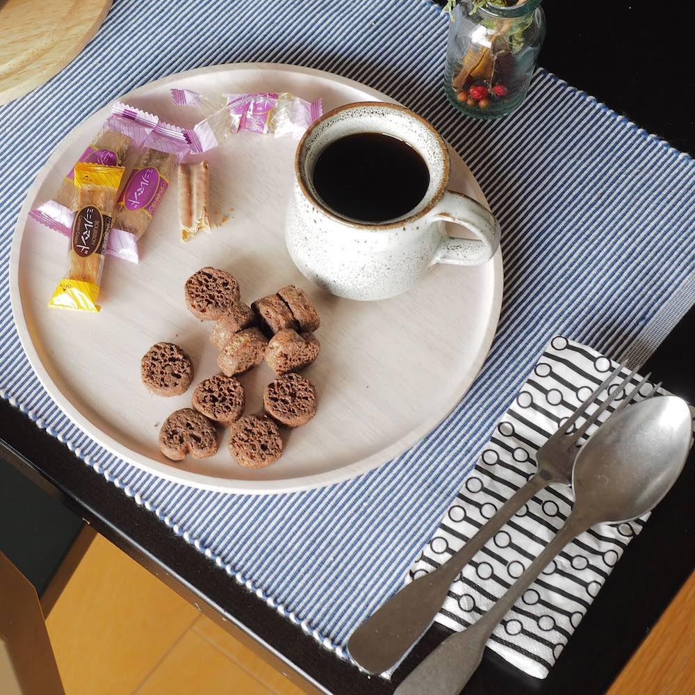 ACACIA|圓形木製餐盤白色(大 / 中 / 小三件組 )
