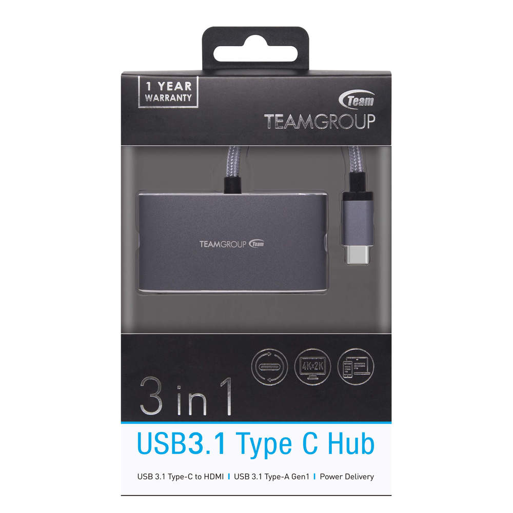 Team Group   十銓 WT01 Type-C 3合1 多功能集線器(轉接器)