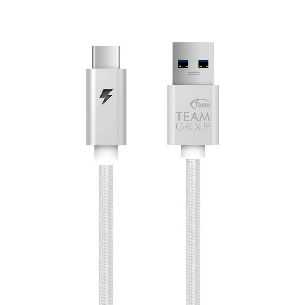 Team Group | 十銓 WC0A Type-C to USB3.1 Gen 1 閃電金屬編織線 (100cm)