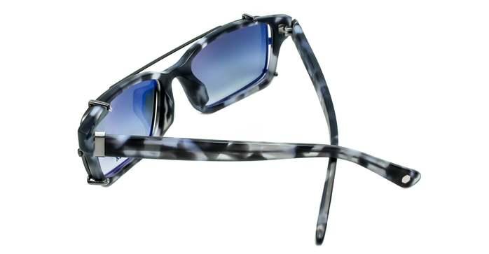 HEX Eyewear|哲學家 - Francis B.│光學配前掛墨鏡│太陽眼鏡│義大利設計 - 藍色啡花