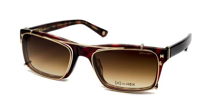 HEX Eyewear|工程師 - Bill G.│光學配前掛墨鏡│太陽眼鏡│義大利設計 - 透紅