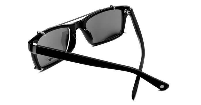 HEX Eyewear|工程師 - Bill G.│光學配前掛墨鏡│太陽眼鏡│義大利設計 - 黑色