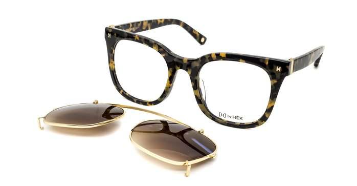 HEX Eyewear|模特兒 - Derek Z.│光學配前掛墨鏡│太陽眼鏡│義大利設計 - 褐色啡花