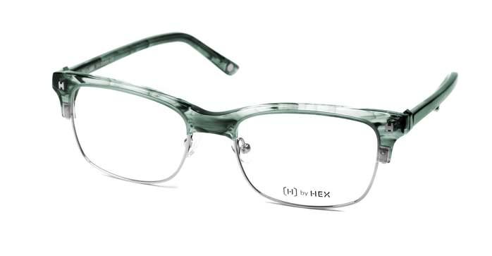 HEX Eyewear|業務員 - Jordan B.│光學鏡框│平光眼鏡│義大利設計 - 透綠煙紋