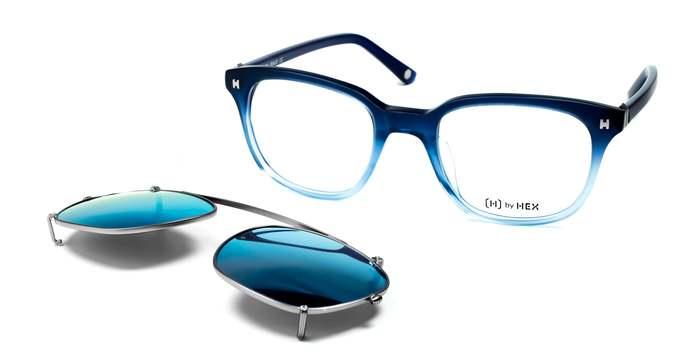 HEX Eyewear|騙子 - Frank A.│光學配前掛墨鏡│太陽眼鏡│義大利設計 - 深藍色漸層