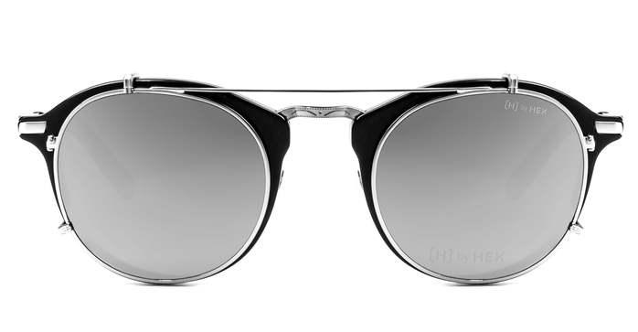 HEX Eyewear|科學家 - Michael F.│光學配前掛墨鏡│太陽眼鏡│義大利設計 - 黑色